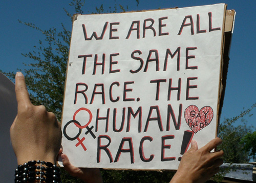 We are all the same race. The human race!